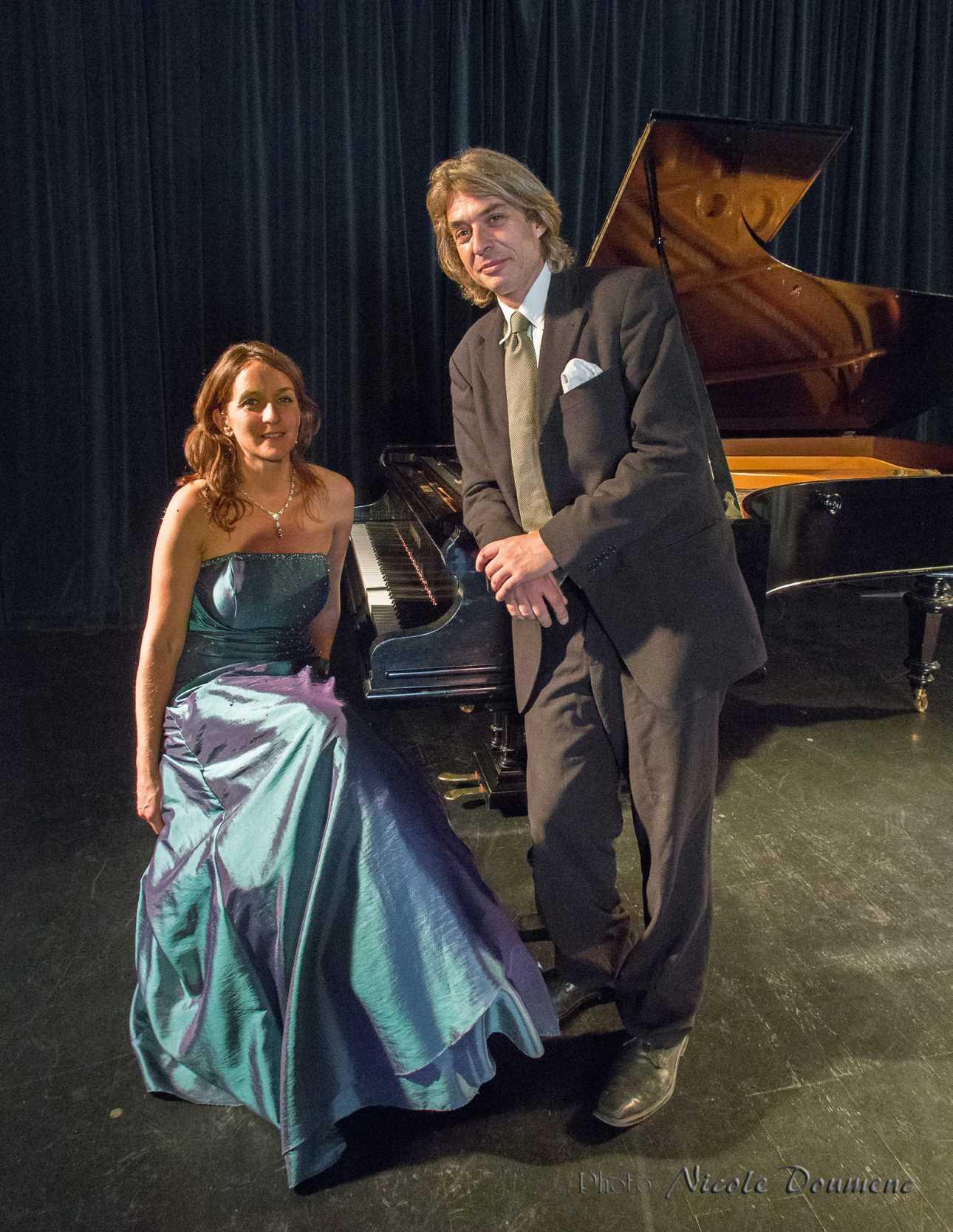 Avec le pianiste Conrad Wilkinson