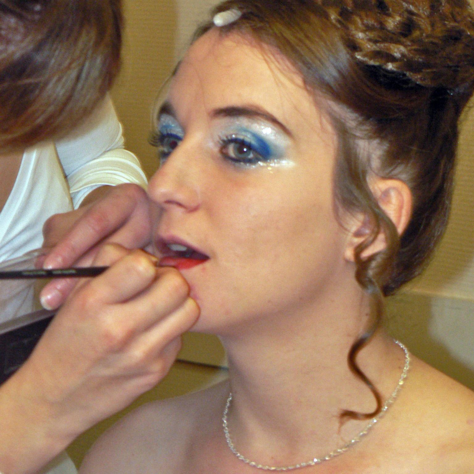 Séance de maquillage au Théâtre