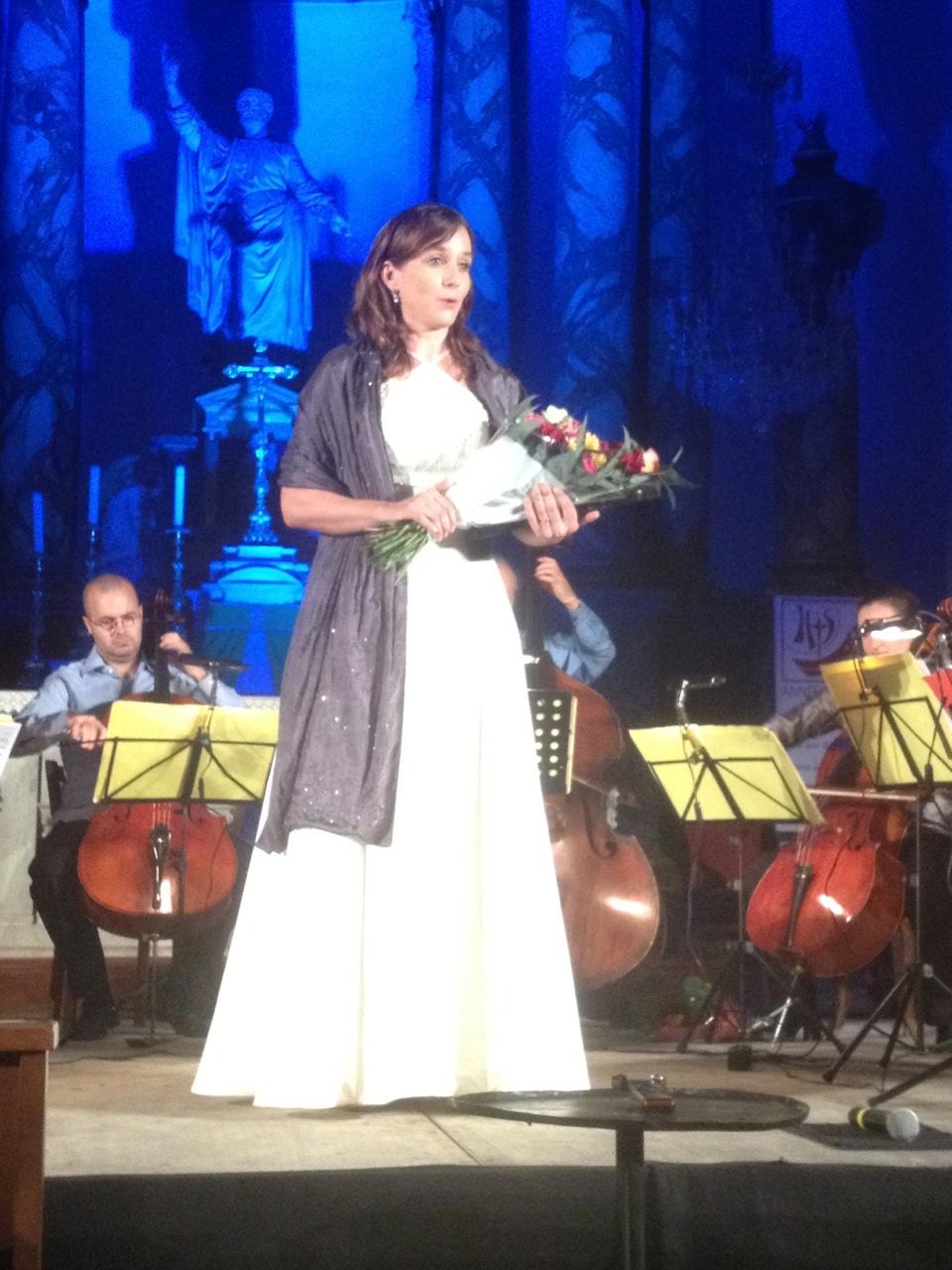 """Avec l'octuor à violoncelles """"Tutti Bassi' à Céret 2013"""