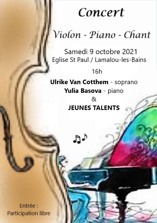 Affiche Concert Jeunes Talents